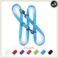 [Gesponsert]Pets&Partner® Hundeleine aus Nylon / Doppelleine in verschiedenen Farben für kleine und große Hunde passend zu Halsband und Geschirr, Marine Blau