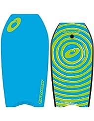 Osprey para niños/adultos en espiral con Bodyboard Leash, XPE Junta con cola en forma de media luna–41inch, Unisex, XPE Spiral, azul, na