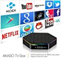 AKASO T95Z PLUS Android TV Box 4K/1080P KODI Loaded Android 6.0 Marshmallow Amlogic S912 Octa Core 2GB DDR3 16GB EMMC Flash 2.4G/5G Dual WIFI Band 1000M LAN Ethernet Bluetooth 4.0 3D Streamming Media Player
