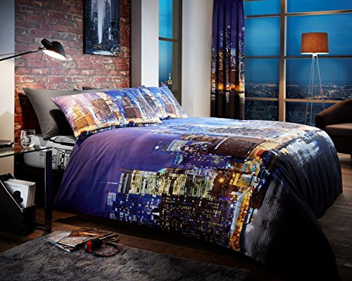 woolworthr-new-york-city-llife-blue-duvet-cover-with-pillowcases-quilt-cover-bedding-sets-double