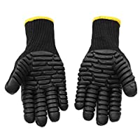 Allsunny Working Gloves Anti Vibration Shock Resist Absorbing Safety Mechanic Working Protective Gloves Black