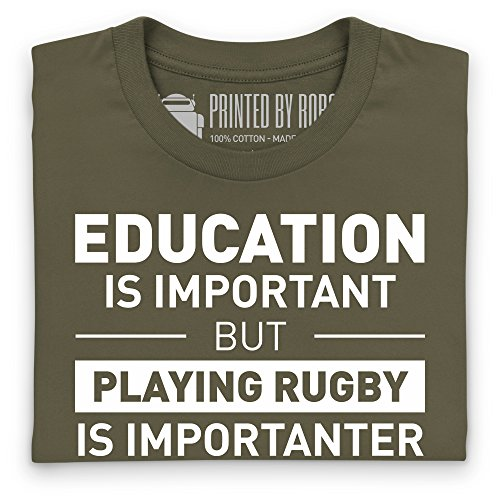 Playing Rugby T-Shirt, Herren Olivgrn