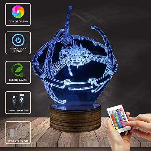 3D visuelle Lampe optische Täuschung LED Nachtlicht,