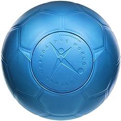 One World Play Project - Ballon de foot indestructible - increvable/indégonflable/non toxique - bleu - taille 5
