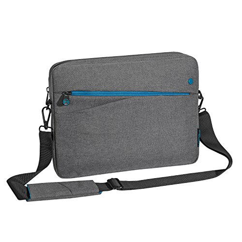 """PEDEA Tablet PC Tasche \""""Fashion\"""" für 12,9 Zoll (32,8cm) Tablet Schutzhülle Tasche Etui Case mit Zubehörfach und Schultergurt, grau"""
