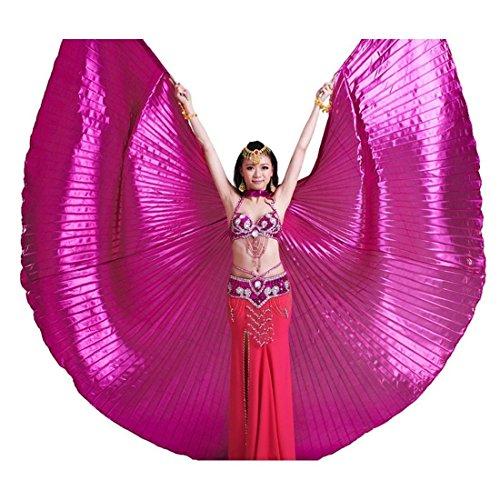 Calcifer® Marke neue Ägyptische Ägypten Belly Dance Flügel Isis Flügel Kostüm Geschenk für Big Party Weihnachten, - Big Belly Kostüm