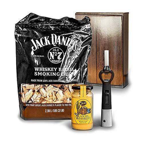 Monsterzeug Whiskey Geschenkbox, Grill-Set, Whisky-Geschenk, Männergeschenk, Smoking Chips, Whisky Senf, BBQ Feuerzeug