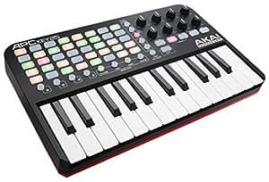 AKAI Professional - APC KEY 25 - Contrôleur MIDI/USB pour Ableton Live avec Clavier 25 Touches Sensibles + VIP 3.0 et Pack de Logiciels Inclus - Noir