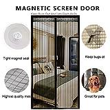 DULPLAY 3D Rahmen Velcro Magnet fliegengitter Tür,Mesh-Vorhang,Magische Tür Mesh Atmungsaktive Dichtung DIY Verstellbare Fenster -C 95x200cm(37x79inch)