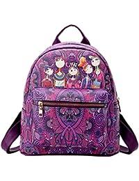 b9d51fc0685a9 Chenang Damen Leder Rucksack Handtaschen Damen Tagesrucksäcke  Mädchengymnasium Vintage Reisetasche