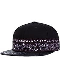 Aivtalk - Negro Sombrero de Hip Hop Gorra de Béisbol Ajustable Moda  Stitching Snapback Hat Accesorio 05ddbf00d16