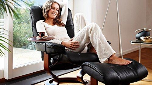 Stressless® Mayfair Sessel mit Hocker (M) Schwarz günstig - 2