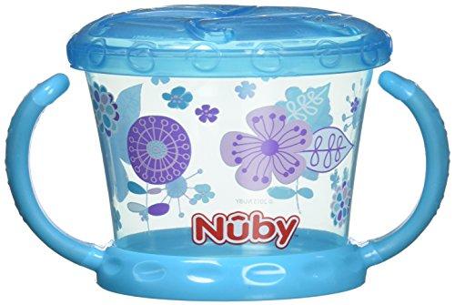 Nuby Snack Keeper–Bol avec rabat souple, Couleur Aqua