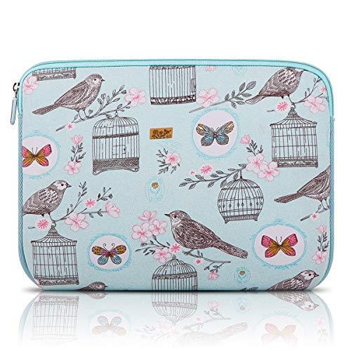 Arvok 15 15,6 16 Zoll Laptoptasche Schutzhülle Wasserfest Neoprene, Blauer Vogel