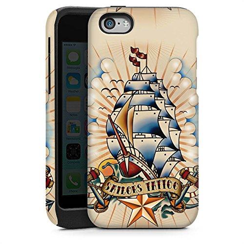 Apple iPhone 3Gs Housse étui coque protection Bateau Ancre Étoiles Cas Tough brillant