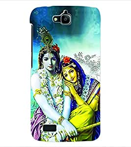 ColourCraft Lord Radha Krishna Back Case Cover for HUAWEI HONOR HOLLY