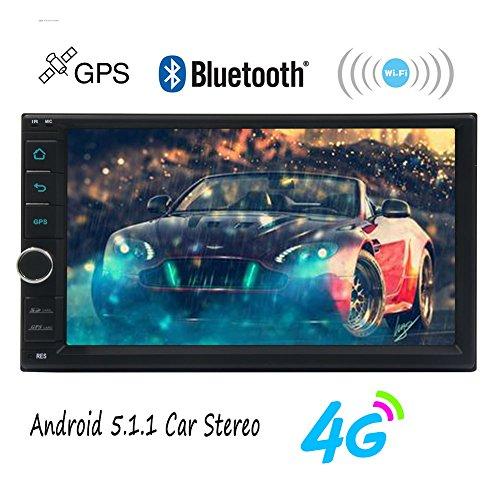 EinCar 7 '' Nuovo Quad Core Sviluppato 5.1 Lollipop capo Android Unitš€ Doppio Din Dash Touchscreen ricevitore radio Audio Specchio collegamento Wifi Bluetooth 2 Din GPS di navigazione Media Player libero 4G Dongle