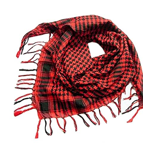 Foulards Femme, Oyedens Fashion Triangle Mantilla Écharpe Plaid Foulard Châle (Rouge)