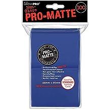 100 Ultra Pro Deck Protector Sleeves Pro-Matte Blue - Standard Mat