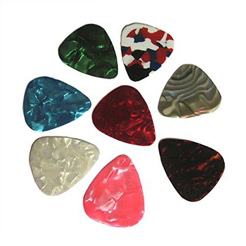 TOOGOO (R) 20pcs duenn Gitarre Plektrum 0.46mm / 0.71mm zufaellige Farbe Dünne Plektren