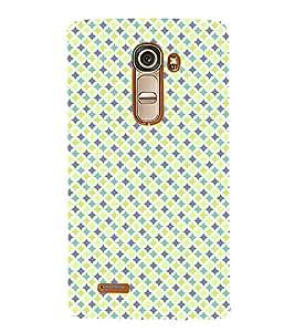 Fuson Premium Yellow Diamonds Printed Hard Plastic Back Case Cover for LG G4 Mini