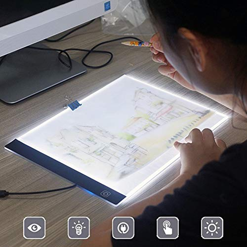 omufipw A4 LED Copy Station Disegno Copia Tracing Light Box USB Ricaricabile Art Stencil Boards Tattoo Tracing Plat