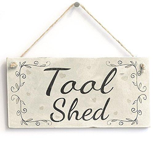 Meijiafei Tool Shed – Vintage Türschild/Schild für Gartenhaus, Geschenk für Männer, 25,4 x...