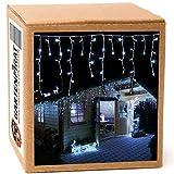 Gartenpirat 480 LED 12m Tenda Luminosa a Cascata Luci Natale Bianco Freddo Interno/Esterno