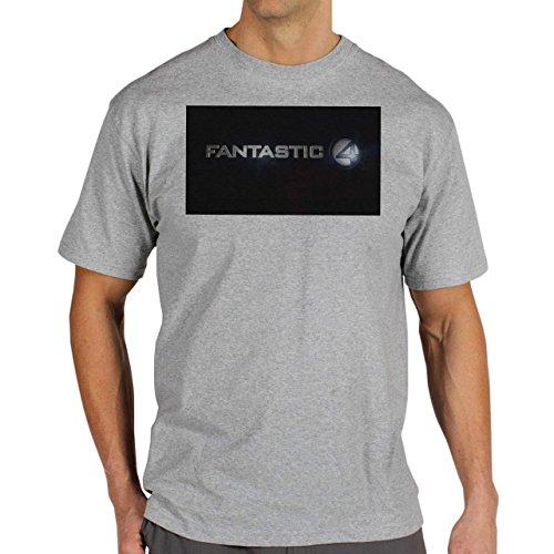 The-Fantastic-Four-Logo-From-The-Movie-Background.jpg Herren T-Shirt Grau