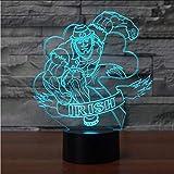 Lkfqjd Creativo 3D Visual Led Irlandese Modelling Light Fixture Usb 7 Colorful Lampada Da Tavolo Comodino Fashion Sleep Night Light Decor Gifts