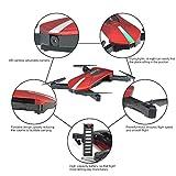 Pliable-RC-DroneKingtoys-JD-018-Selfie-Drone-Quadcopter-avec-2MP-HD-Camra-WIFI-FPV-Drone-le-Mode-Maintien-Automatique-daltitude-Design-de-Piste-Pocket-Quadcopter-Tlcommande-Drone-RTF-une-Batterie-Supp