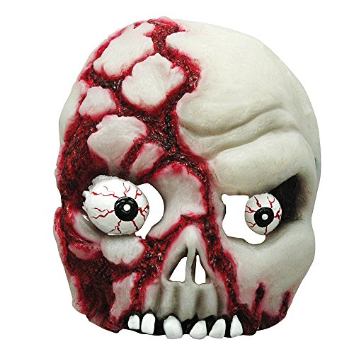 7Glow in the Dark Bloody Skull Mask, One size ()
