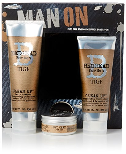 Tigi Limited Edition Männer Pflegeset Clean Up Shampoo + Conditioner + Matte Separation Stylingcreme (250 ml+200 ml+85 g)