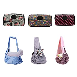 BAO CORE Pets Outdoor Sling Carrier Shoulder Bag for Dog Cat Puppy Lightweight Breathable Pouch for Travel Strollers 51zbF8cOuWL