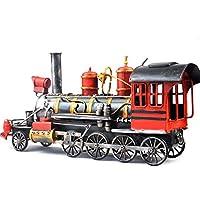 VJUKUB Antiguo Tren Vintage Modelo hojalata Hecho a Mano Retro Hierro Arte hogar Coche decoración decoración Decoracion apoyos fotografía 41 * 11.5 * 19.5 cm