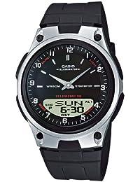 Casio AW-80-1AVEF - Reloj analógico - digital de caballero de cuarzo con correa de resina negra (cronómetro, alarma, luz) - sumergible a 50 metros