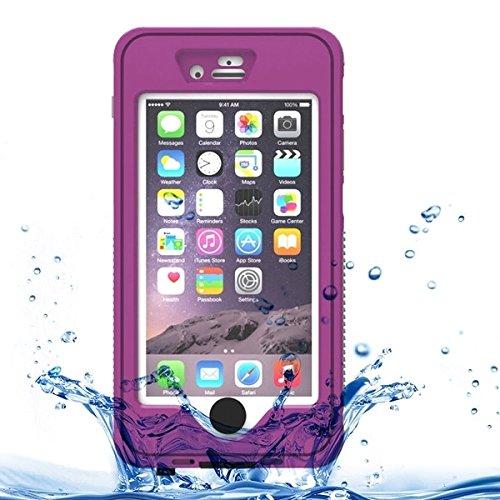 Phone case & Hülle Für iPhone 6 / 6S, wasserdicht Staubdicht Shockproof Crushproof Noctilucent Schutzhülle mit Halter ( Color : Purple ) Purple