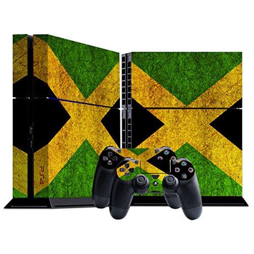 Stillshine PS4 Skin Aufkleber Sticker Folie schützende Haut Schale für Sony Playstation 4 Konsole und 2 Controller (Flags Jamaica)