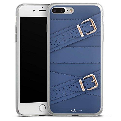 Apple iPhone X Slim Case Silikon Hülle Schutzhülle Leder Mode Schnallen Silikon Slim Case transparent