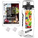 gulp Fruit Infuser Water Bottle 1 Litre with Medium Length Infusion Rod, 235