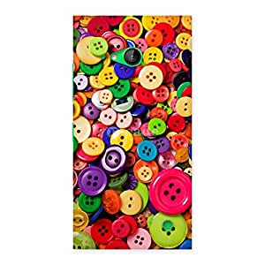 Special Button Lot Print Back Case Cover for Lumia 730