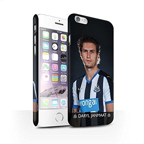 Offiziell Newcastle United FC Hülle / Matte Snap-On Case für Apple iPhone 6S / Pack 25pcs Muster / NUFC Fussballspieler 15/16 Kollektion Janmaat