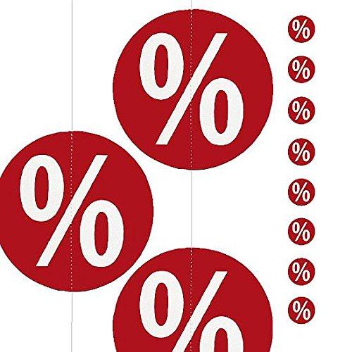 DekoWoerner Kette Prozent-Kreise 200cm rot