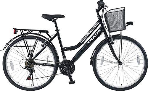26 Zoll Kinder Mädchen Damen City Fahrrad Damenfahrrad Cityfahrrad Citybike Mädchenfahrrad Bike Rad 21 Gang FUNTASIA SCHWARZ TYT19-050