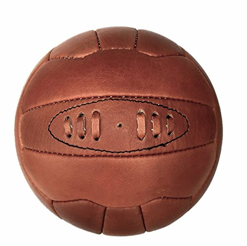 Qualität echt Leder Vintage Fußball Fußball