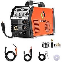 Inversor Mig Soldadura 200Amp 220V DC MIG MAG ARC Levante TIG ARC Gas Gasless Sin núcleo