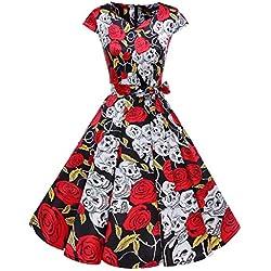 Dresstells Vestido mujer corto retro años 50 vintage