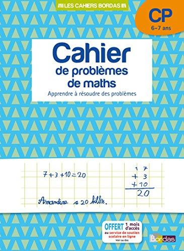 Cahier de problèmes de maths CP par Collectif