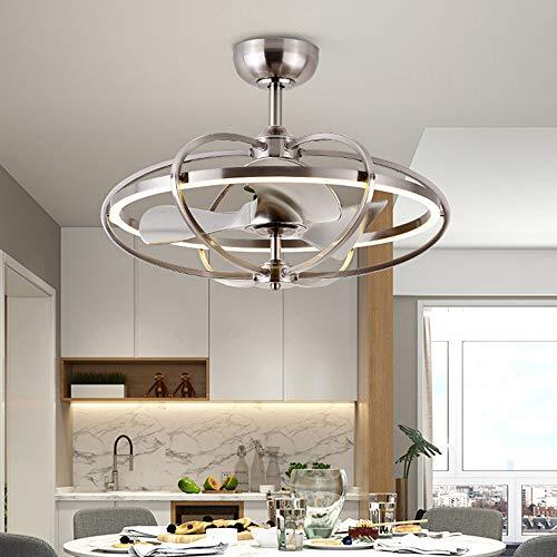 TYXWZL Creativo Soffitto Fan Light Illuminazione Unica Sala da Pranzo Lampadari Moderno Minimalista Ioni Negativi Telecomando Luce variabile Ventilatore a soffitto,D