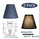 OYGROUP Lampadario semplice della lampada da tavolino di sostegno di colore solido di colore solido di colore solido (confezione da 2) 8x14x16cm grigio